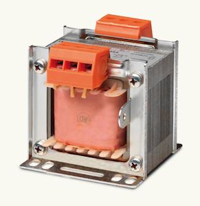 Jednofázové bezpečnostní a izolační transformátory IP00